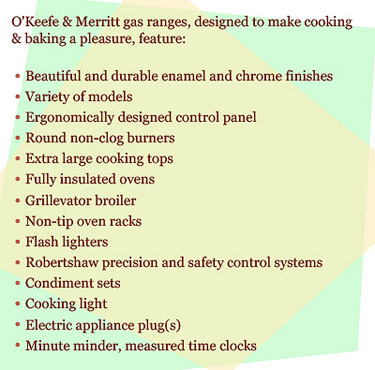 o'keefe & merritt antique stoves are classics and still one of the best  quality ranges ever made in the usa  due to their quality o&m value  appreciates with