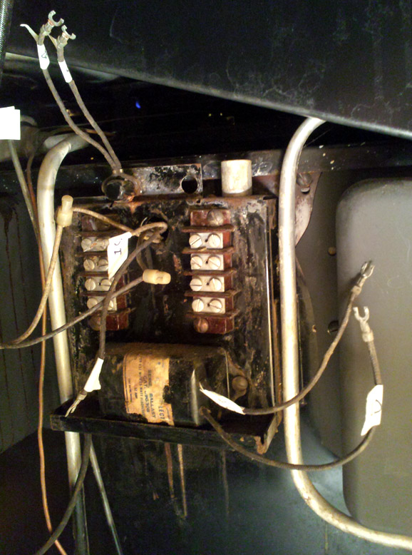 electrical system desiree s o keefe merritt stove wrt the panel s two terminal blocks i identified each screw by the same row column system as excel rows were 1 4 columns a d before removing a wire